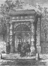 ST.GILES'S-IN-THE-FIELDS. The gateway in its original position. London c1880